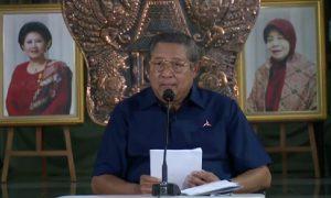 Susilo Bambang Yudhoyono memberikan keterangan pers di Cikeas. Foto : Tangkapan Layar Fanpage SBY