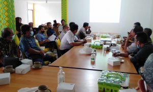 Rapat kepanitiaan lintas seksi MTQ ke XXIX, Rabu (20/10/2021), di Sekretariat Panitia MTQ Kalbar, Rumah Melayu Tepak Sireh Sintang. Foto: Istimewa